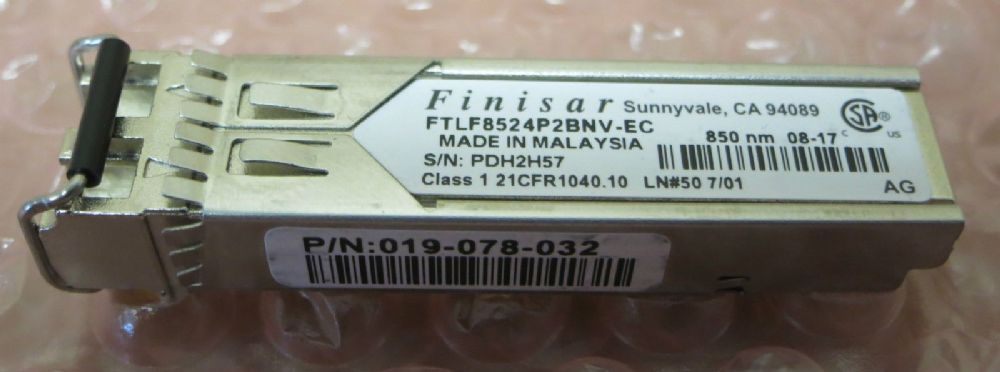 Finisar Fibre Optic 4Gb/s 850nm SFP Transceiver Module GBIC FTLF8524P2BNV-EC